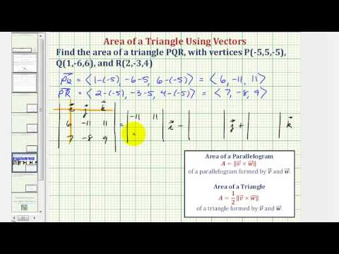 Ex: Find the Area of a Triangle Using Vectors - 3D