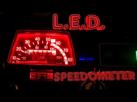 how to change speedometer lighting color on a tw200