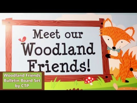 Woodland Friends Bulletin Board Set by CTP7069