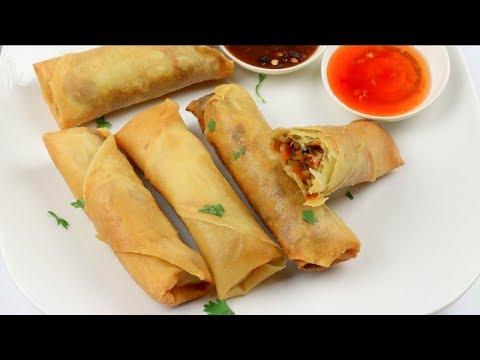 চাইনিজ চিকেন স্প্রিং রোল (ফ্রোজেন পদ্ধতি সহ) | ইফতার রেসিপি | Chicken Spring Roll Recipe