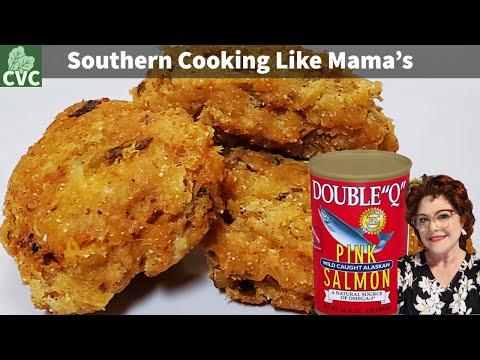 12.16.2017 Salmon Patties, Fried Salmon patties Country Southern Favorite