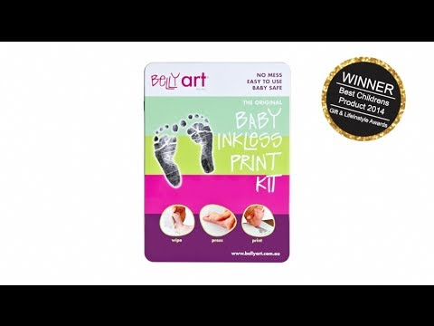 How to take your baby footprints with Baby Made (formerly Belly Art) Inkless Print Kit