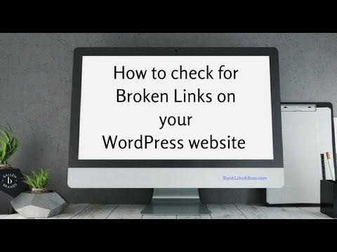 How to check for Broken Links on your WordPress website with Broken Link Checker Plugin [4:46] 2018