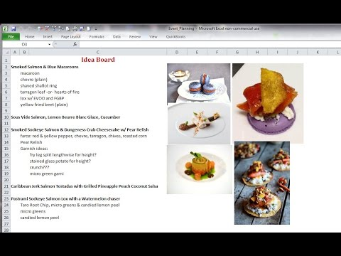 Chefs - Use Excel for Event & Catering Planning