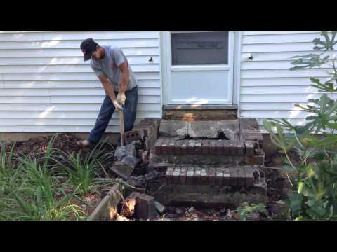 Really awesome concrete stairs destruction removal construction demolition