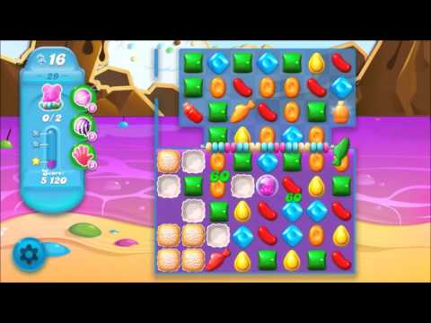 Candy Crush Soda Level 29 *Get the bear above the candy string*