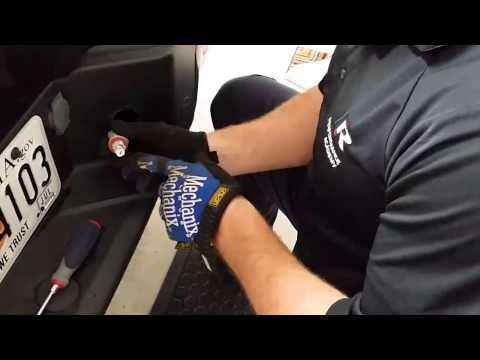 F150 How to remove license plate Tag lights & Install Led Light system