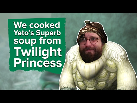 We cooked Yeto's Superb Soup from Zelda: Twilight Princess
