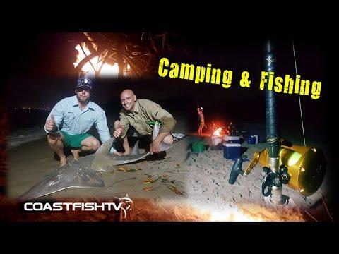 Landbased Shark fishing and camping  |  Wave Break Island Gold Coast  |  CoastfishTV