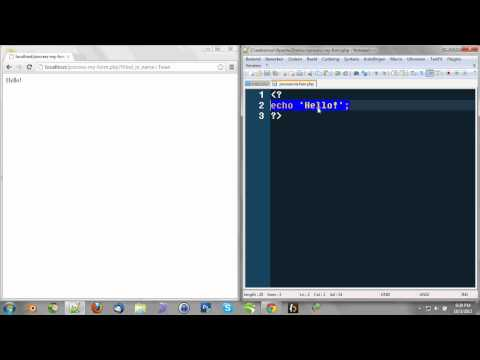 Learning PHP 6 - Working with user-input (form + PHP)