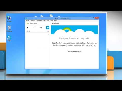 How to add a contact or send a contact request in Skype® on Windows® 8 PC