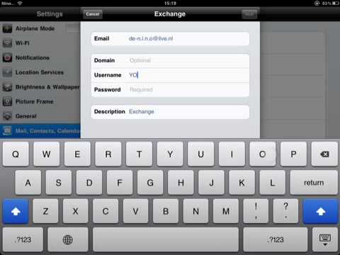 Set up hotmail on iPad, iPod or iPhone