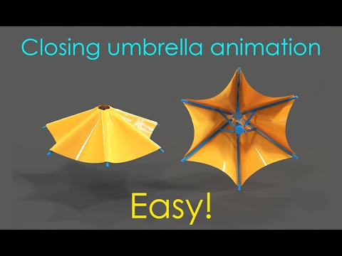Making an umbrella animation - 3ds max tutorial