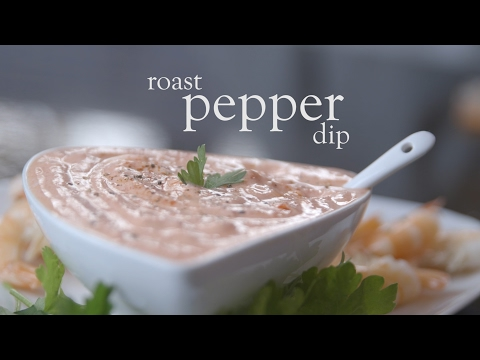 Slimming World syn free roast pepper dip