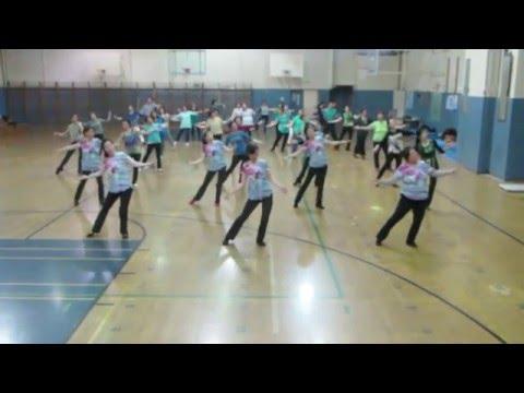 Class Video 竹舞 5/18/2016 San Francisco Chinese Line Dance 三藩市鳳凰飛健舞社