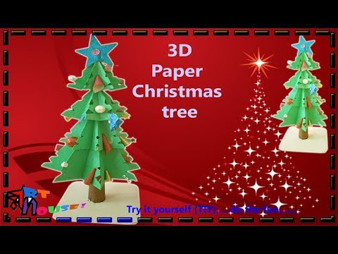 Easy 3D Christmas tree | Origami christmas paper by Art House