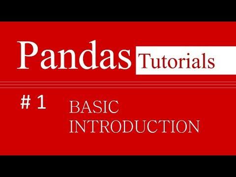 Pandas Tutorials # 1 : Basic Introduction to Pandas