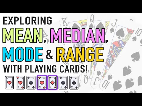 Mean, Median, and Mode Activity with Playing Cards!