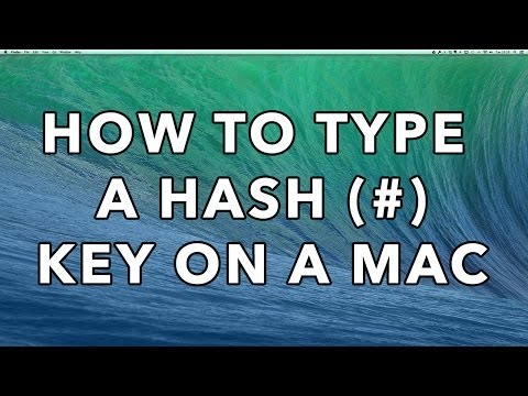 How to type a Hash Key (#) on a Mac (OSX)