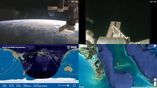 Orbital Sunset Over America - ISS Space Station Earth View LIVE NASA/ESA Cameras And Map - 39