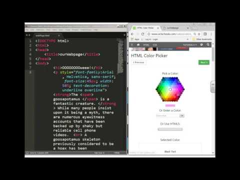 Webpage6: Hexidecimal color,font color, and the span tag
