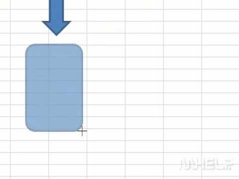 How to insert a flowchart shape into a workbook