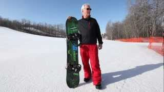64 YEAR OLD SNOWBOARDER DOING BUTTERS AND SPINS