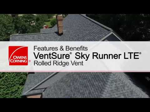 Roofing Product Guide: VentSure®  Sky Runner LTE® Rolled Ridge Vent