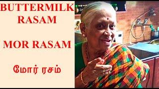 Shantha Paati making the awesome Buttermilk Rasam | Unique Rasam Recipe | மோர் ரசம்