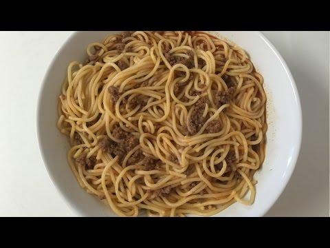 Lebanese Spaghetti With Mince Meat-By Easylifeتحضير معكرونة باللحمة على الطريقة اللبنانية