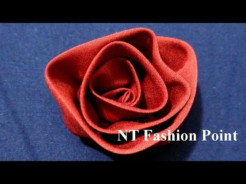 HOW TO MAKE FABRIC FLOWERS ROSES
