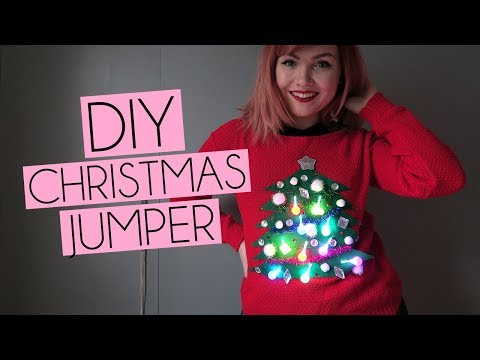 DIY Christmas Jumper Sweater with Lights | Paige Joanna