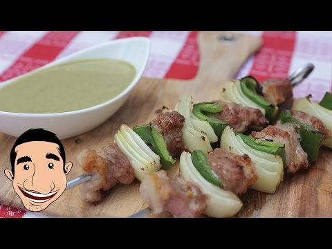 Grilled Pork Skewers with Capsicum and Onion   Feat BBQ Aroma