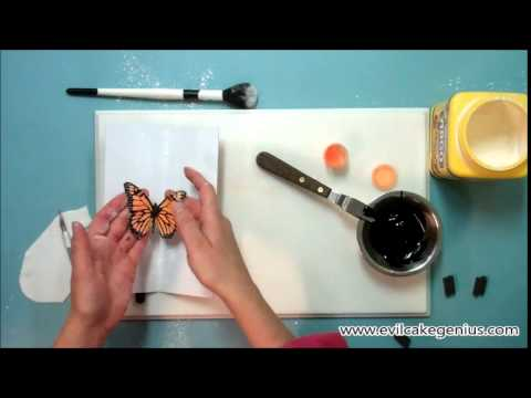 Evil Cake Genius Monarch Butterfly Cake Stencil Set
