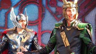 "NEW Loki & Thor Character Mini-Show for ""Thor: Ragnarok"" at Disneyland Resort"