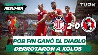 Resumen Toluca 2 - 0 Tijuana   Liga Mx Apertura 2019   Jornada 6   TUDN
