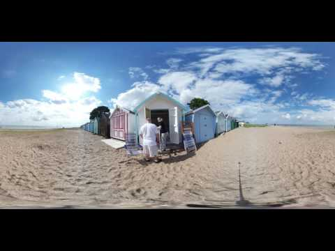 Beach Hut, new doors getting a coat of paint