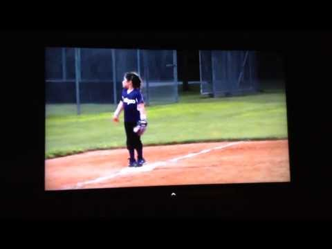 Coach B getting her exercise! Lol! Bella playing 3rd base and dancing to the other team's chants lol