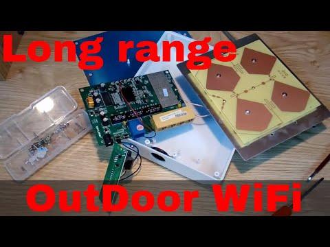 DIY 5 km 16dBi Outdoor AP wireless bridge 1000mW TP-LINK hardware and ubnt AirOS