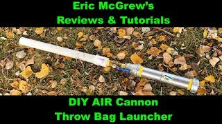 How to build a throw ball cannon! Homemade air cannon