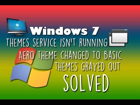 (Windows 7) Aero effects changed to Basic and Themes Service isn't Running (Problem SOLVED!)