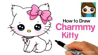 How to Draw a Cute Cat Easy | Sanrio Charmmy Kitty