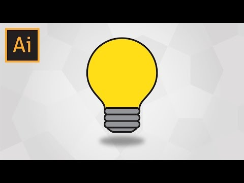 How To Draw An Easy Light Bulb In Adobe Illustrator