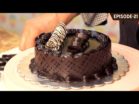 Learn a simple easy technique on how to apply a chocolate collar on any type of cake