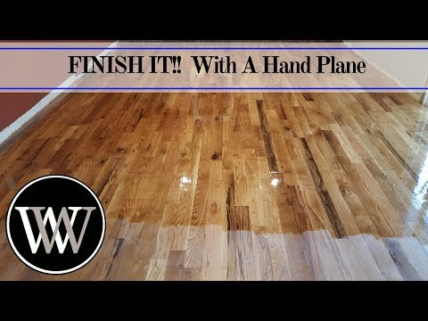 How to Hand Scrape a Floor and Finish it With Waterlox