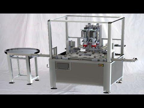 cartridge oil filling assembly equipment automatic liquid infilling machine آلات تعبئة الزيت