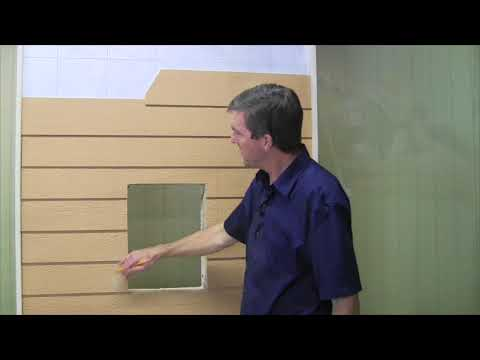 6   Cut Back Siding (optional) - Freedom Pet Pass Wall-Mounted Pet Door Installation
