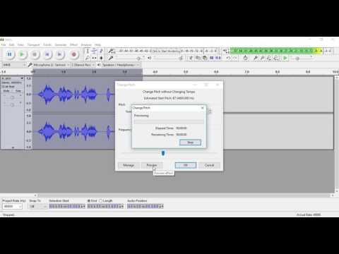 Audacity Free Audio Editor: Change Pitch Tutorial