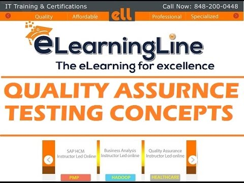 QA online training - Software testing concepts by ELearningLine @848-200-0448