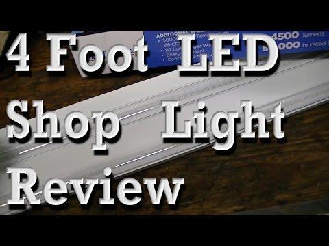 4' LED Shop Light Review (replaces T12 & T8 Fluorescent lights)